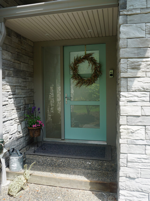 A welcoming front entry.