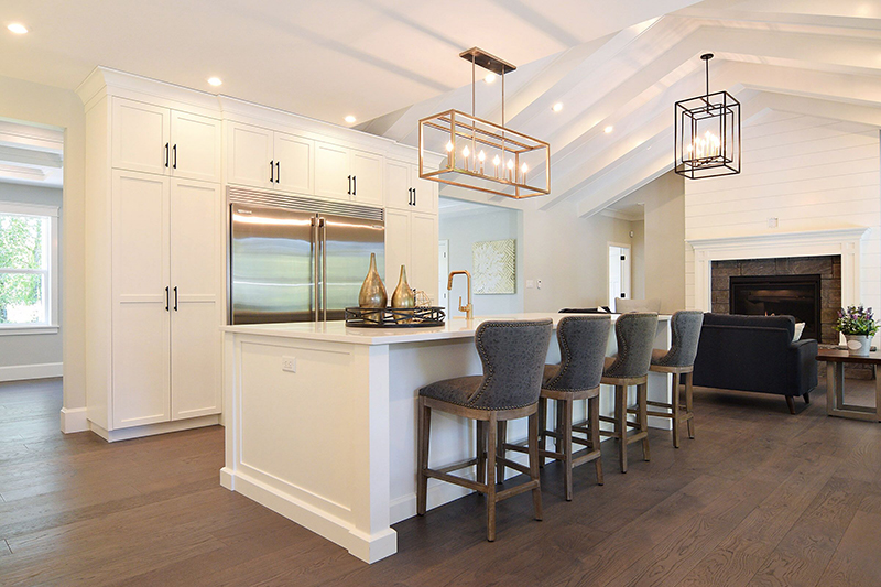 I incorporated hints of gold throughout creating an ageless space that is not overpowering or too trendy.